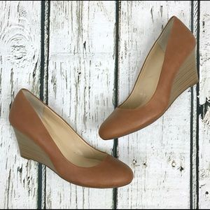 Jessica Simpson Brown Sampson Wedges Sz 9.5